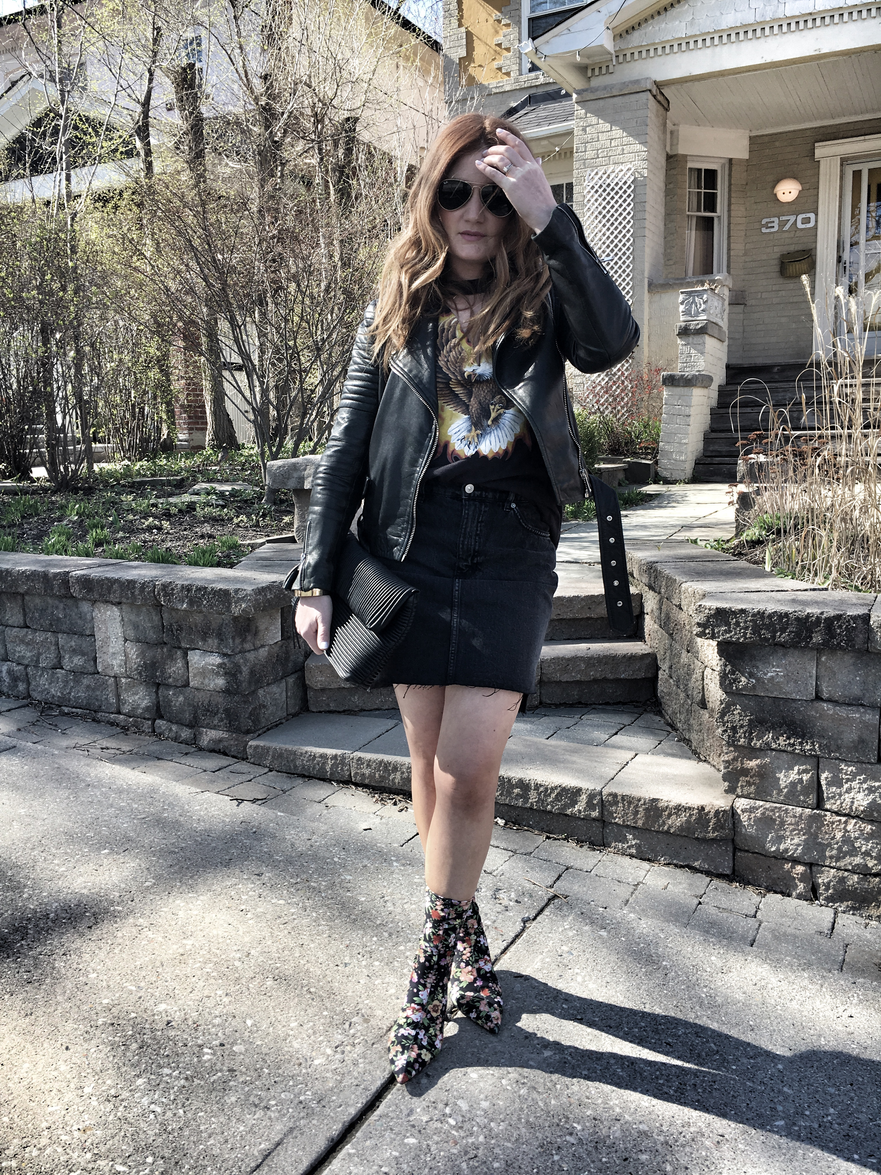 Statement floral boots